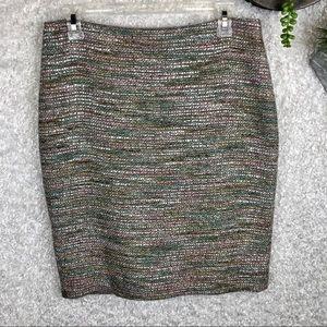 Ann Taylor Bouclé Tweed Skirt | 6